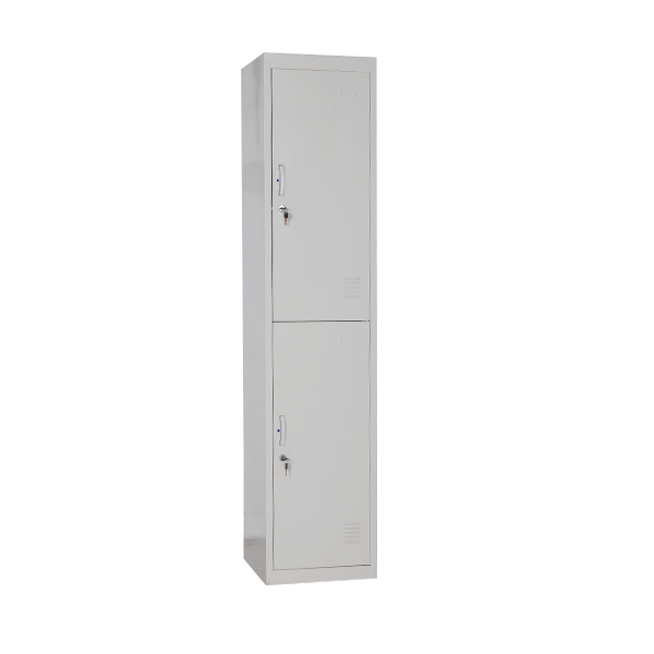 2 tier door steel locker