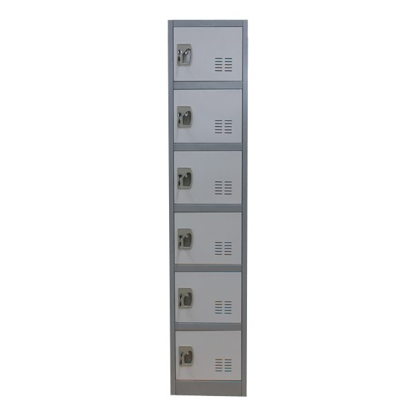 6 tier door steel locker